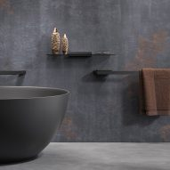 Black bathroom accessories by Geesa