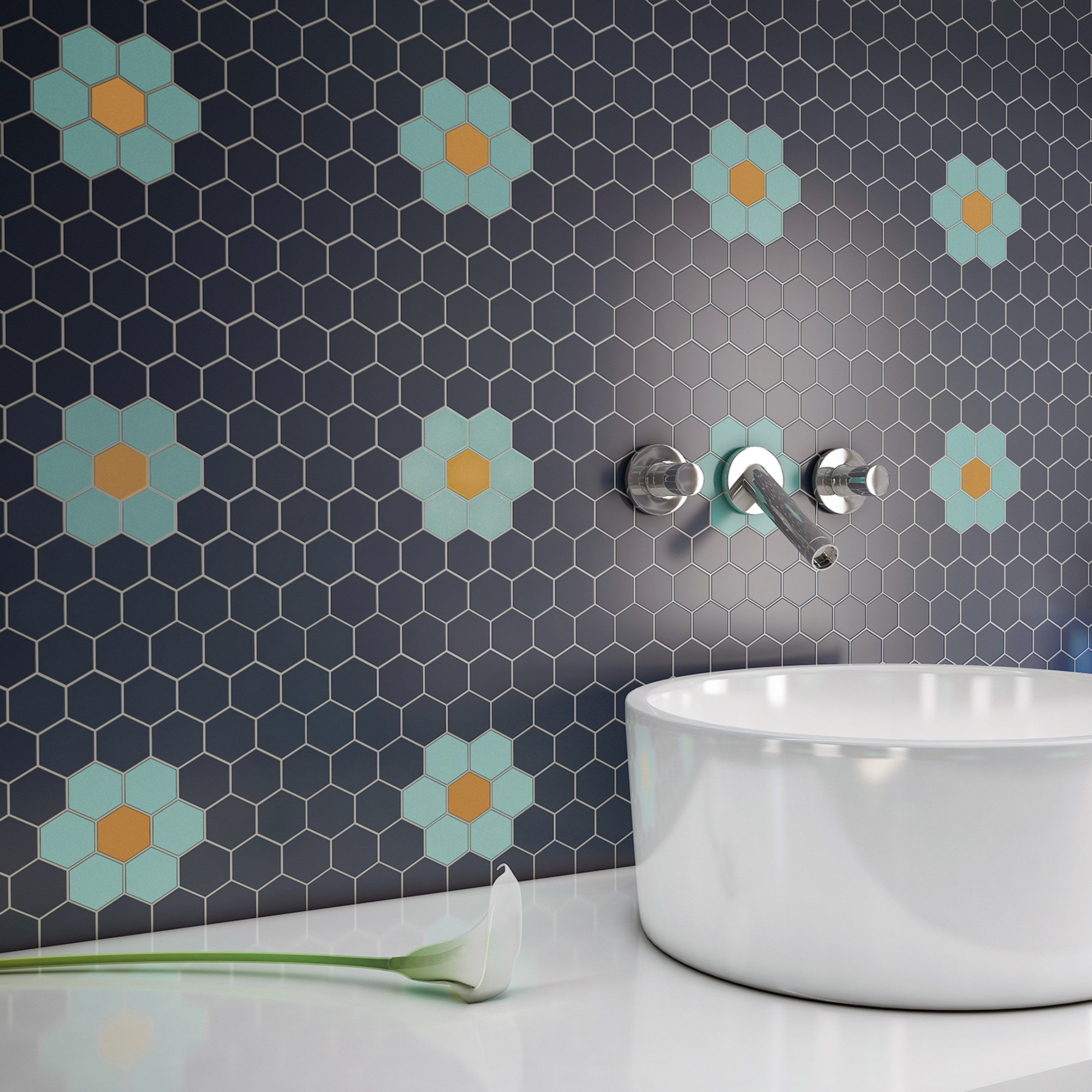 Sixties Shapes tile collection by Togama