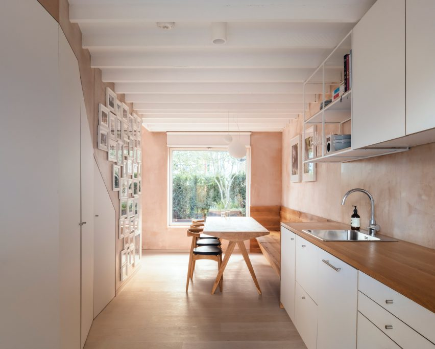 White pantry and kitchen cabinets