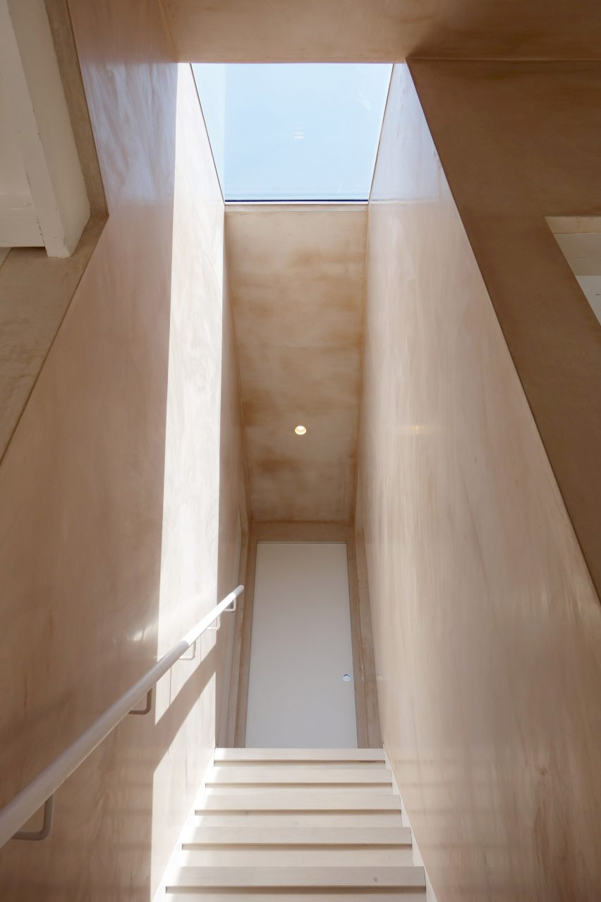 Staircase with skylight
