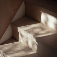 White-washed oak floorboards on a staircase