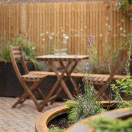Outdoor table in garden
