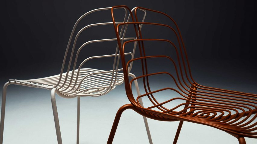 Wired chairs by Michael Young for La Manufacture