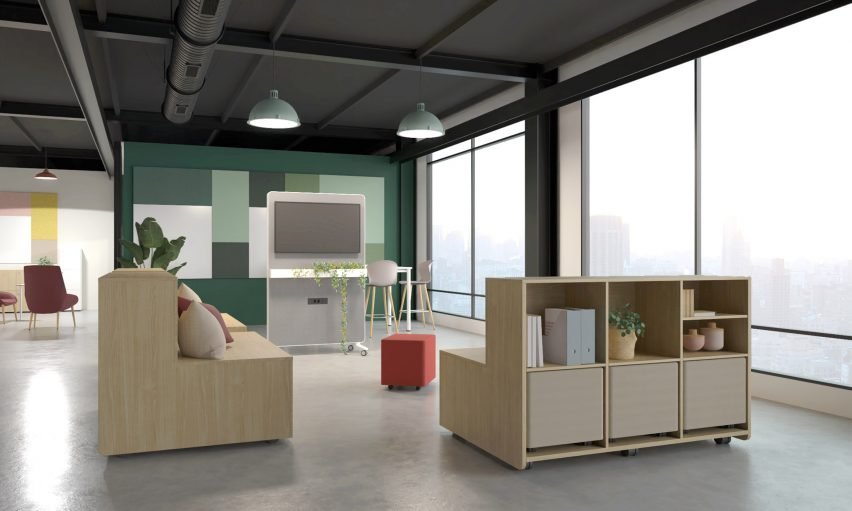 Actiu designed the furniture to be mobile