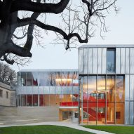 AL_A wraps University of Oxford buildings in etched glass and anodised aluminium