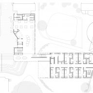 First floor plan of the campus building