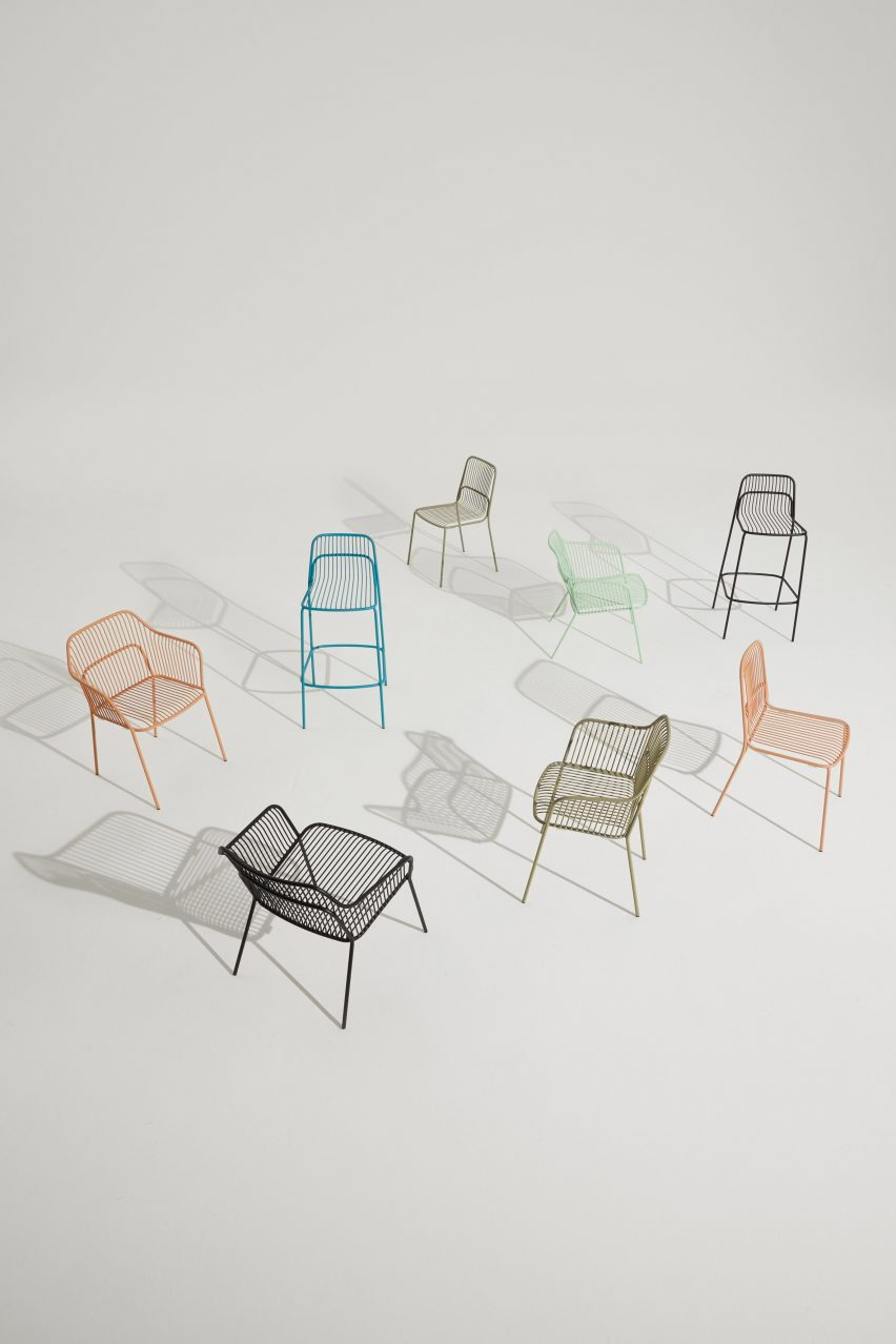 Outdoor seating by Allermuir
