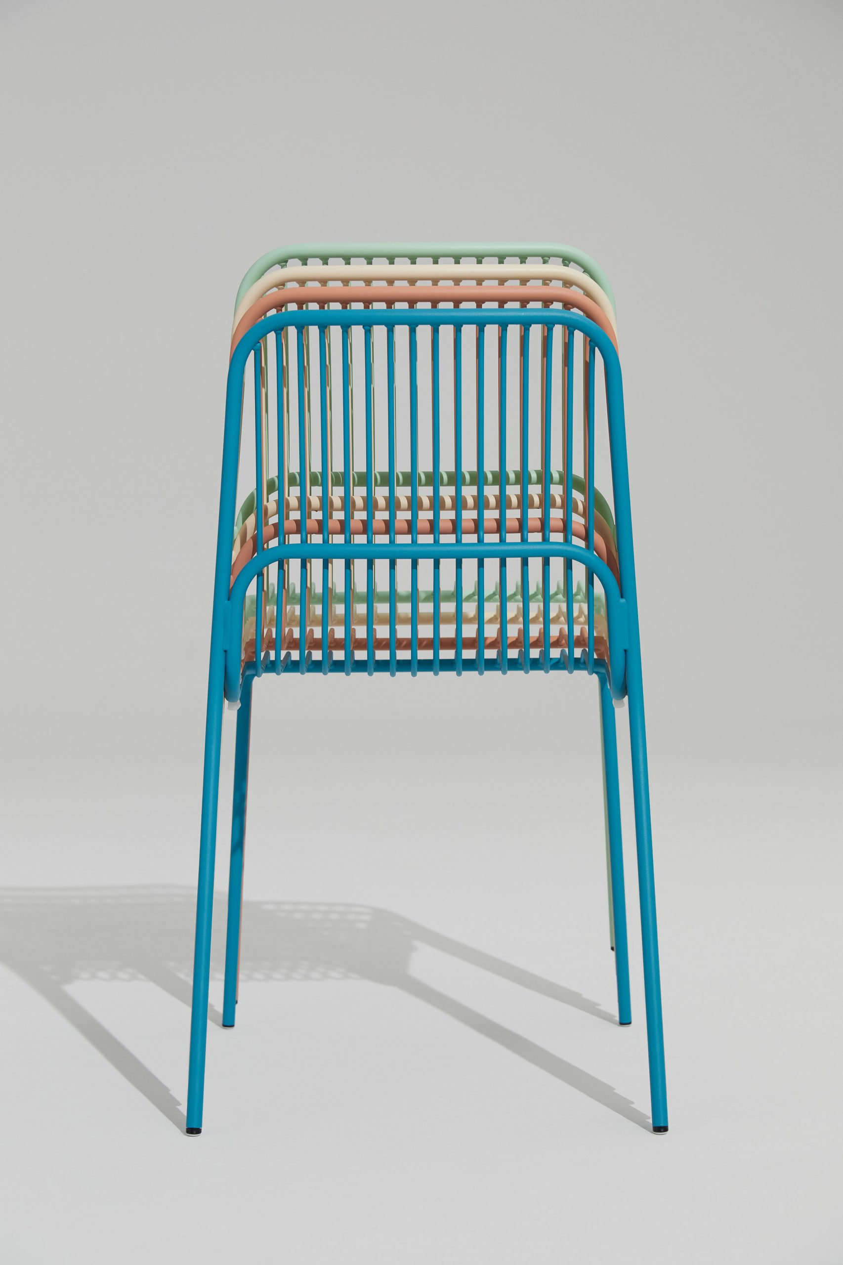 Stacked Crop outdoor chairs by Benjamin Hubert