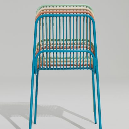 Multicoloured Crop outdoor chairs by Benjamin Hubert for Allermuir