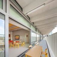 Classrooms are adjoined to terraces