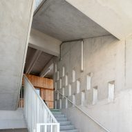 Openings in the concrete add sculptural details