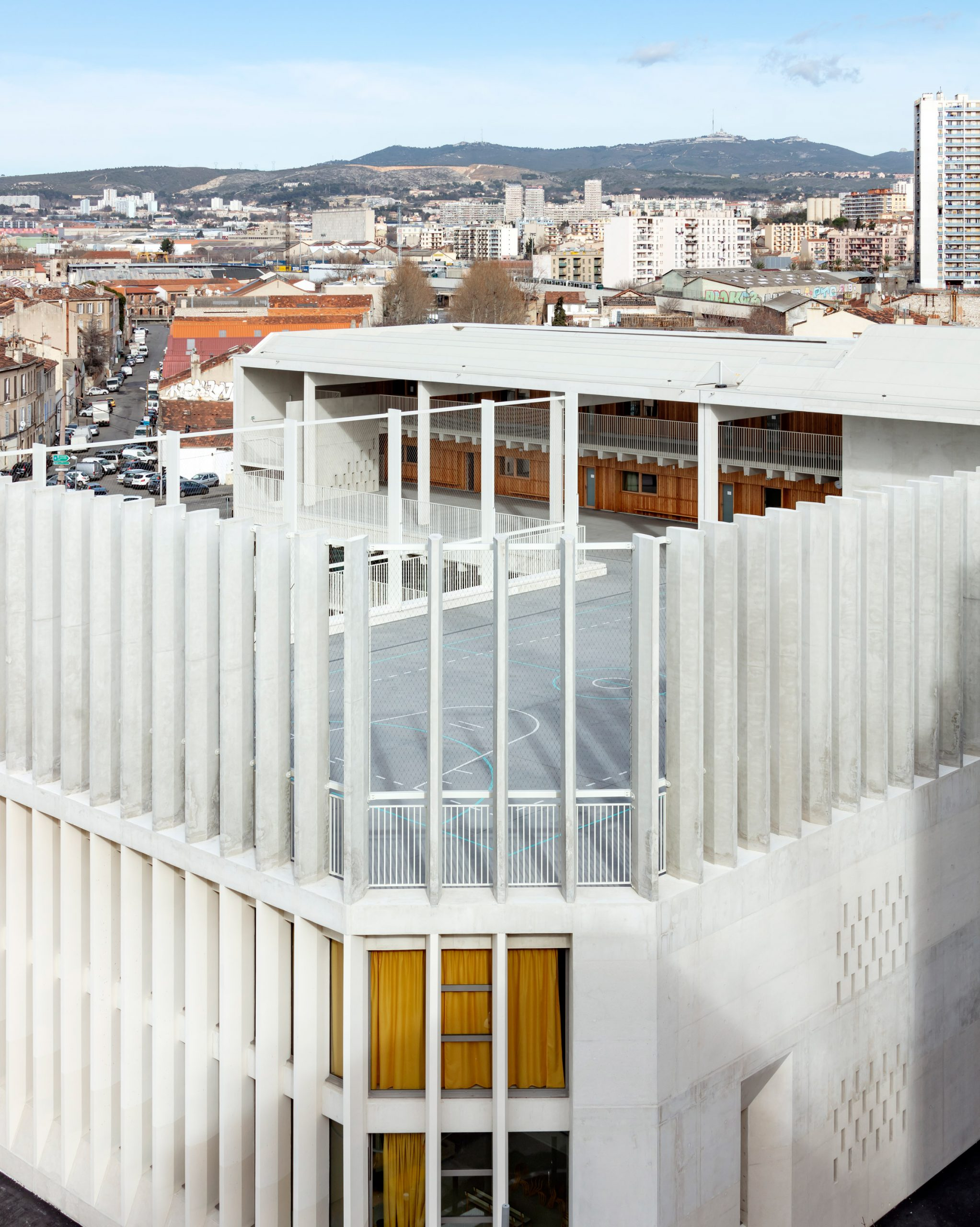 A play space is located at the top of the Antoine de Ruffi School
