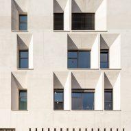 Window alcoves have a skewed design