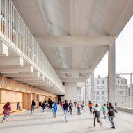 Tautem and Bmc2 Architectes use monolithic forms to create concrete school in Marseille