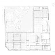 Ground floor plan of the school
