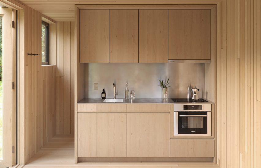 Kitchen of Arcana cabins