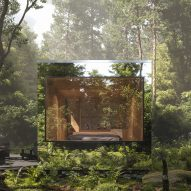 Arcana mirrored cabins will blend into the forest in Canada