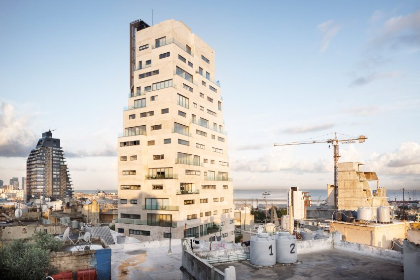Exterior of Aya Tower in Beirut by SOA Architectes