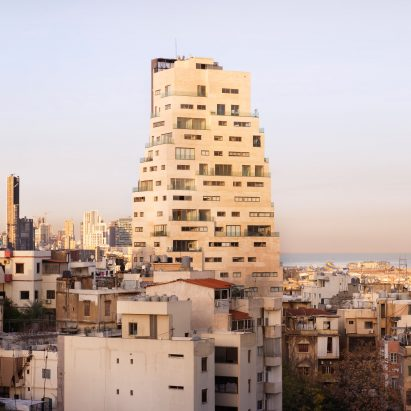 Aerial view of Aya Tower in Beirut by SOA Architectes