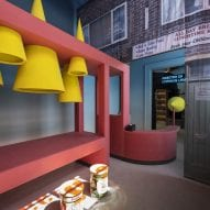 An installation about the British high street at Venice Architecture Biennale