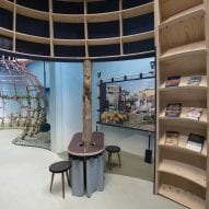 A room inside the British Pavilion at Venice Architecture Biennale