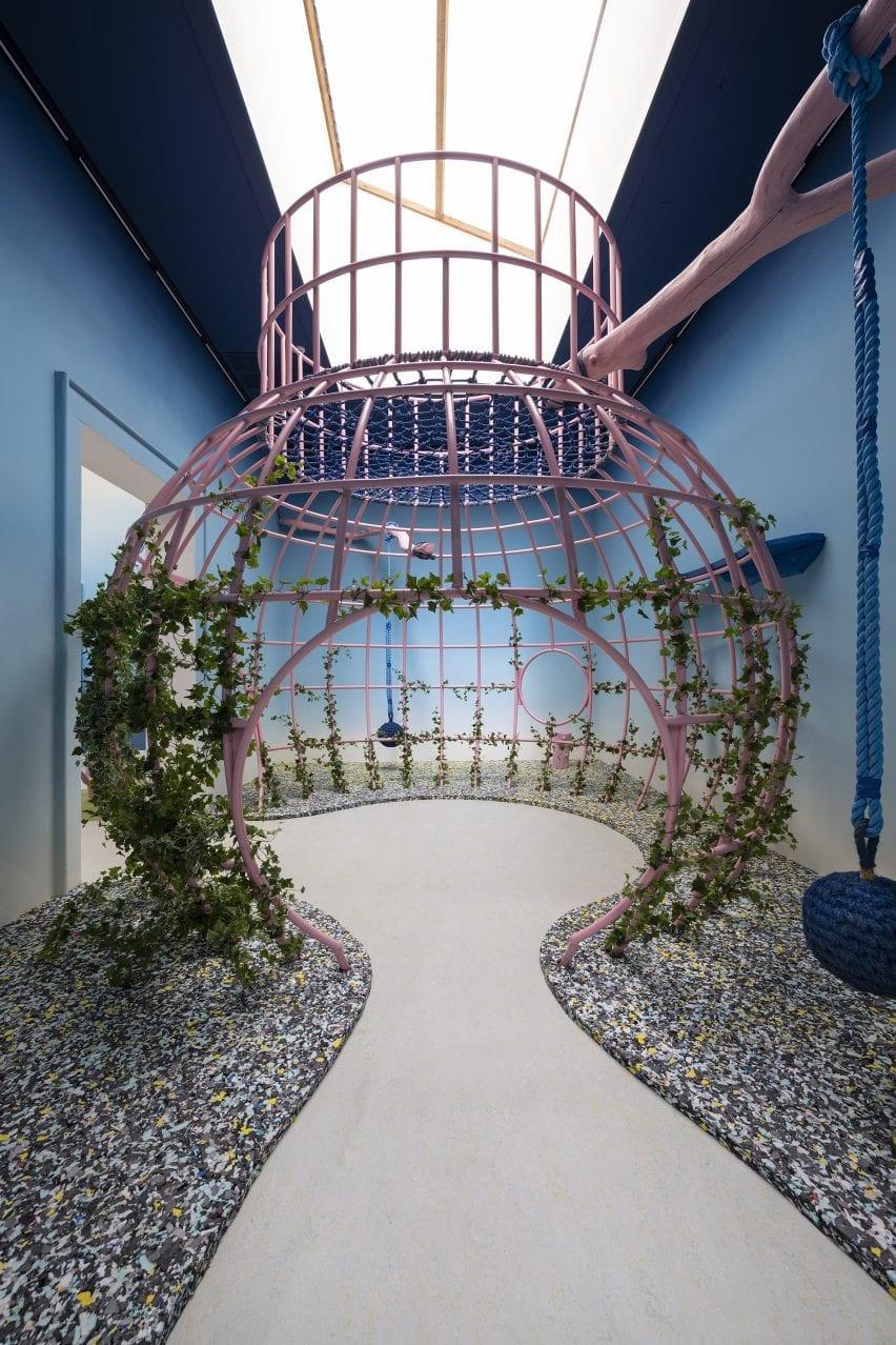 A playground installation