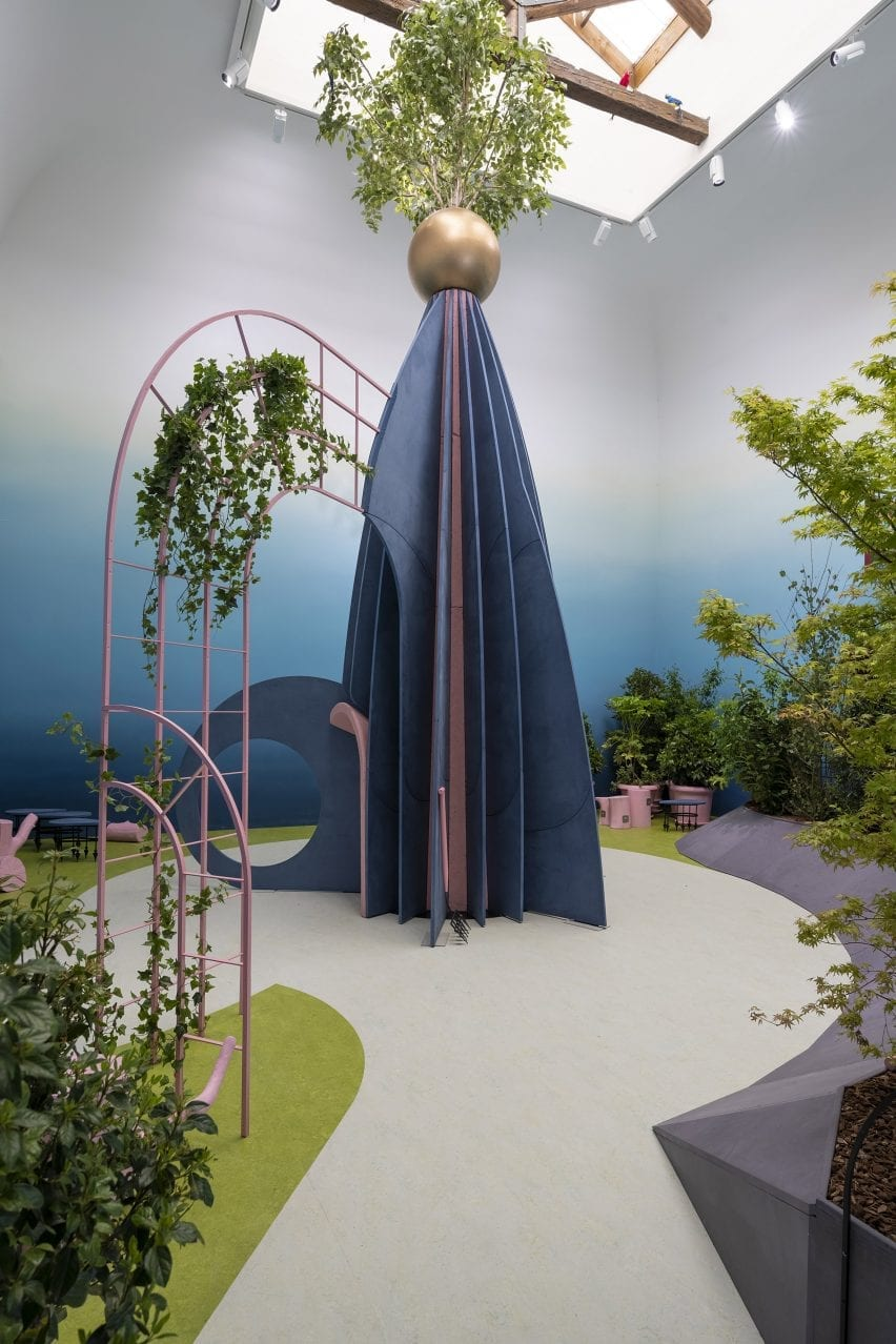 An installation inside the British Pavilion at Venice Architecture Biennale