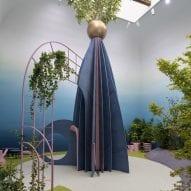 A garden-like installation in the British Pavilion
