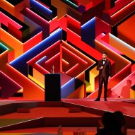 Es Devlin and Yinka Ilori construct Brit Awards stage like rainbow-coloured maze