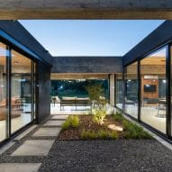 Central courtyard with living spaces facing onto it