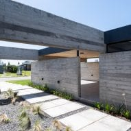 Concrete wall of Casa SAB by PSV Arquitectura
