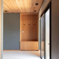 Timber features in house interior