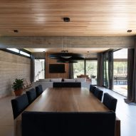 Dining and living room in social block of Casa SAB