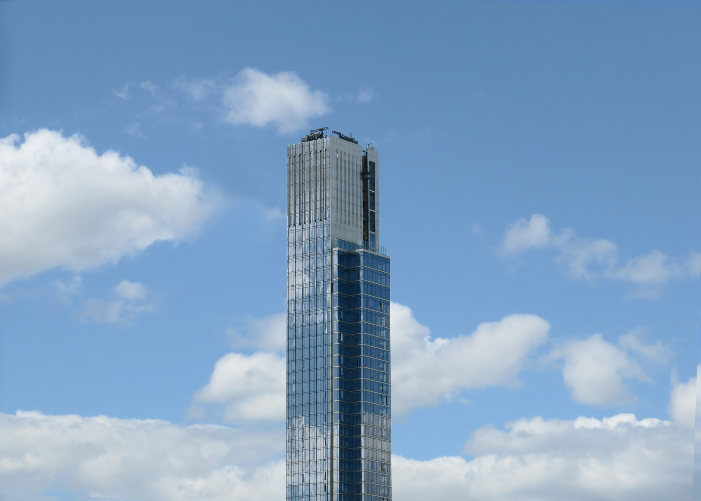 Reflective glass facade of Central Park Tower