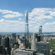 Photos show supertall skyscraper Central Park Tower nearing completion in New York