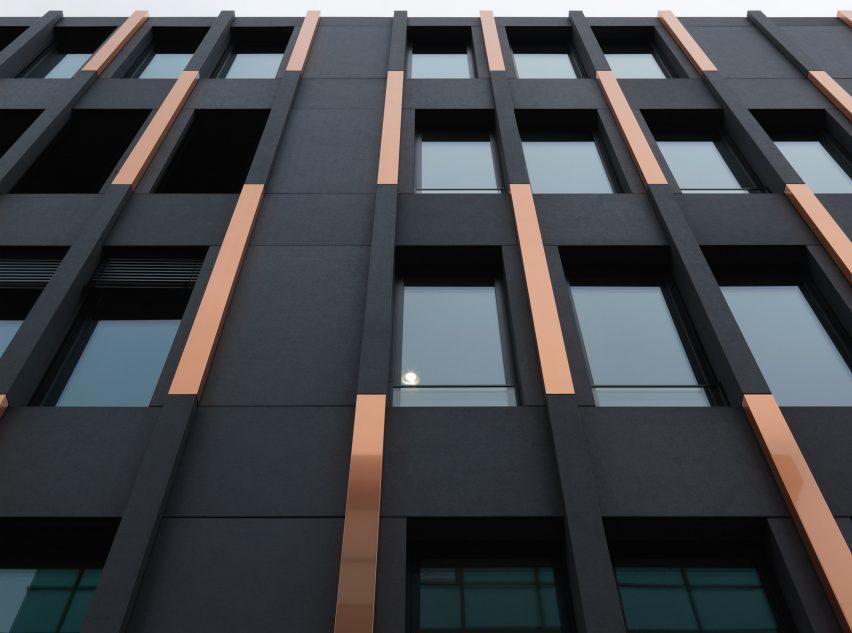 Copper cladding detail