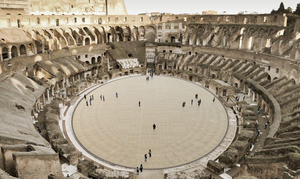 Plans revealed for Colosseum amphitheatre's retractable floor