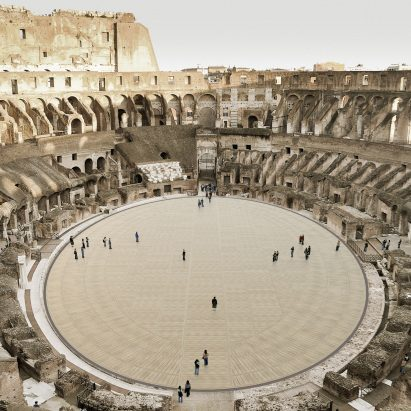 Colosseum's retractable floor by Milan Ingegneria