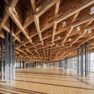 A lattice ceiling covers the interior