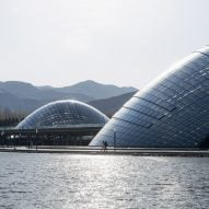 Delugan Meissl completes Taiyuan Botanical Garden with giant domed greenhouses