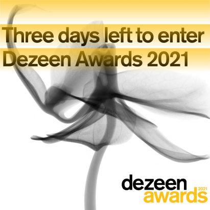 Dezeen Awards 2021 3 days left to enter