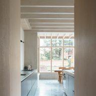 Polished concrete floors reflect light
