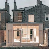 Sunken concrete floor expands Victorian terrace house in London