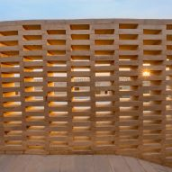 The perforated walls provide privacy