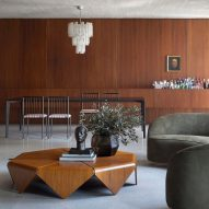 """Walnut and concrete wrap this """"gallery apartment"""" in Sao Paulo by BC Arquitetos"""