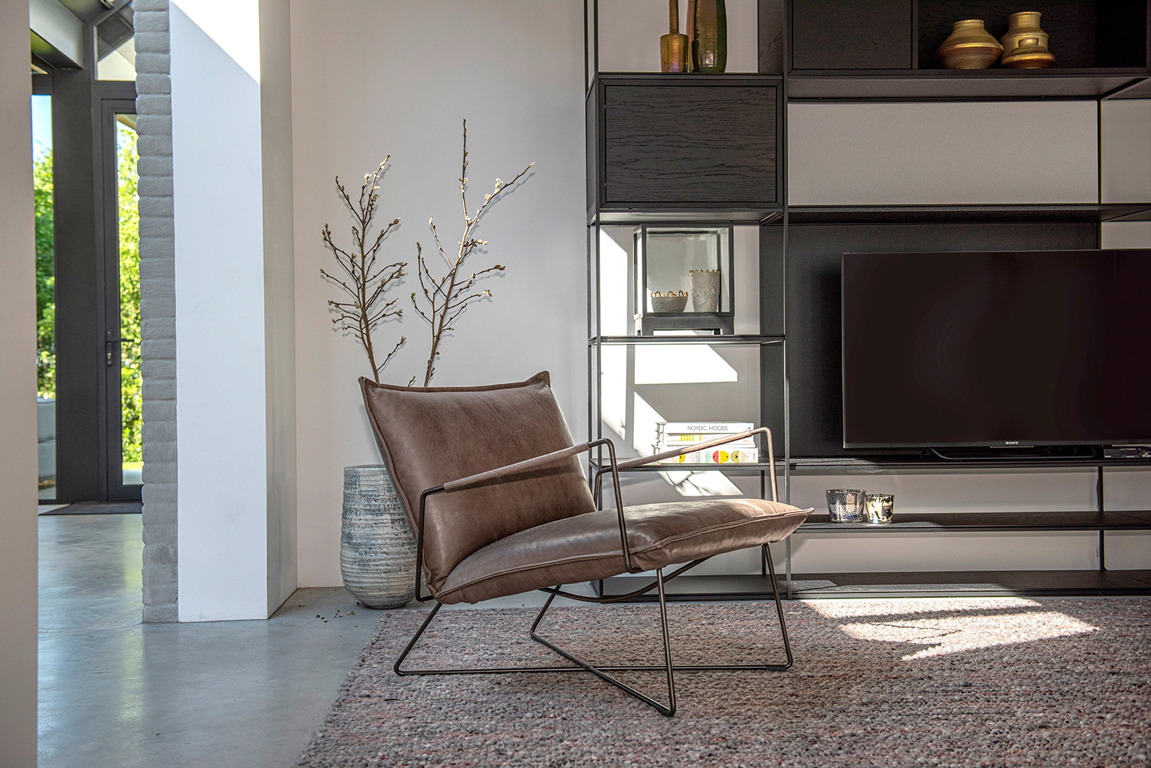Leather lounge chair by Jess