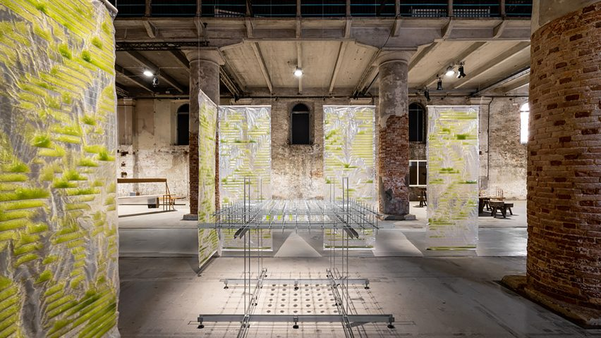 Bit Bio Bot exhibition by EcoLogicStudio at the Venice Architecture Biennale