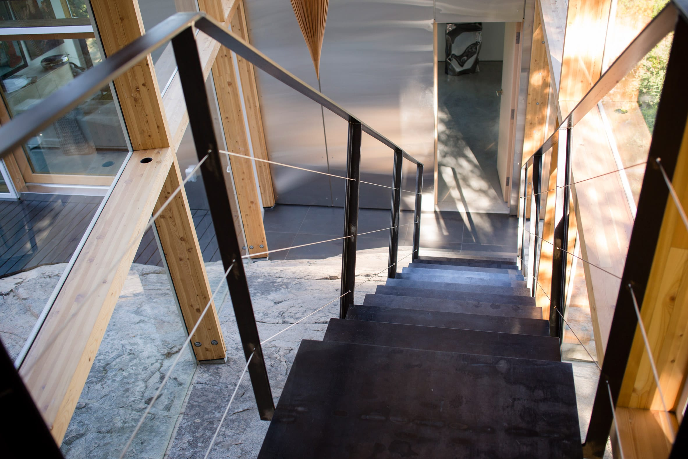 A stair volume is also built into the bedrock