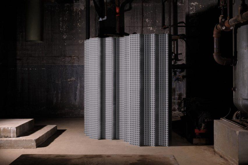 Light installation made of aluminium