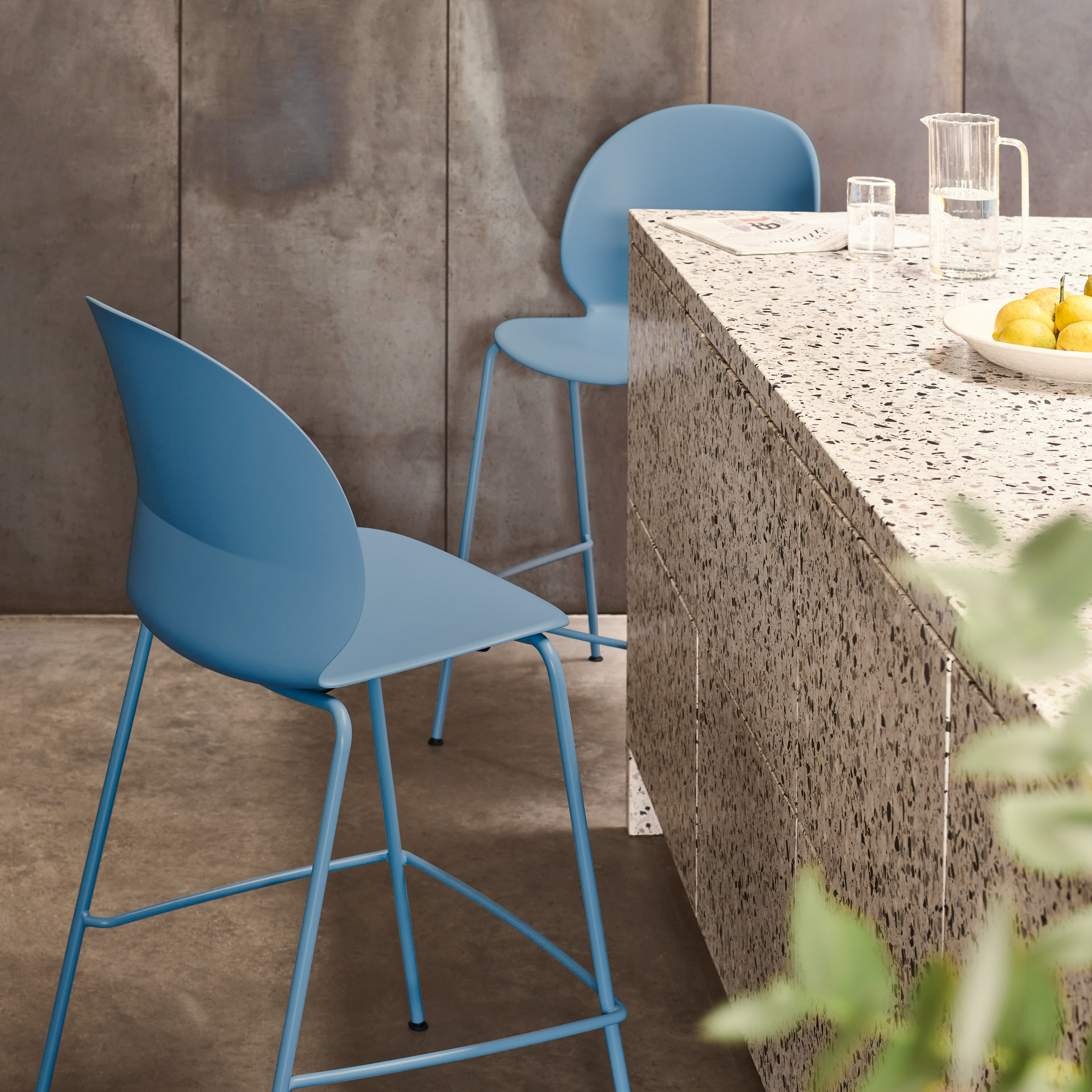 Blue NO2 Recycle chair by Fritz Hansen and Nendo